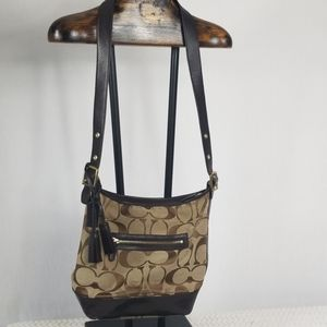COACH 2 Legacy Signature Convertible Hobo Duffl